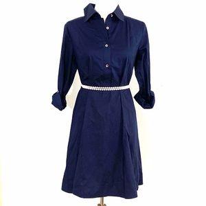 Rosie Pope Navy Shirt Dress Maternity S EUC